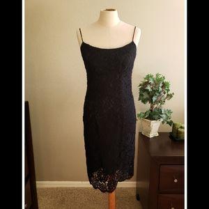 Brooks Brothers Black Lace Dress